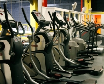 Cardio machines at Iron Works
