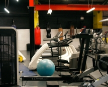 Cardio machines at Iron Works Gym