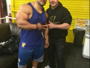 Darren with Roelly Winklaar